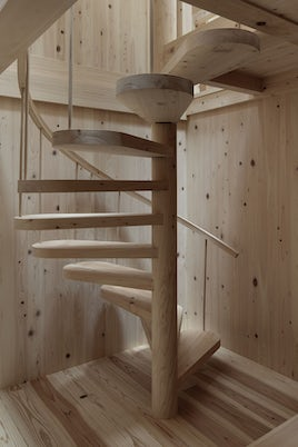 Ogimachi House staircase
