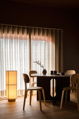 Hashira Floor Lamp and Dining Table