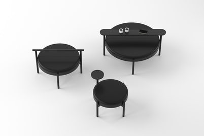 Hygge Ottoman Collection in black