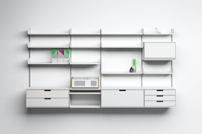 606 Universal Shelving System with objects