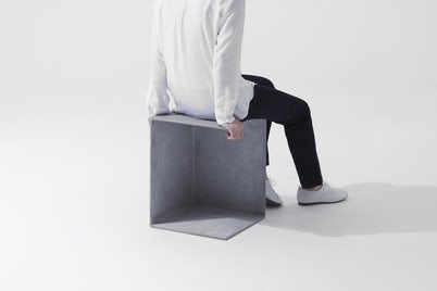 Solidity stool in use