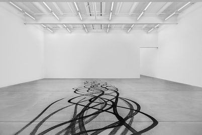 Fabian Buergy digital artwork tire tracks