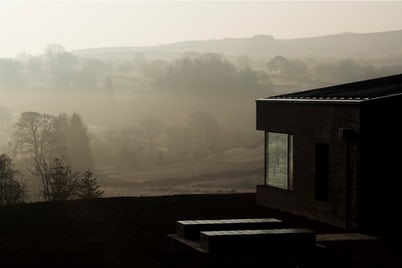 Dawn View of Home in Countryside