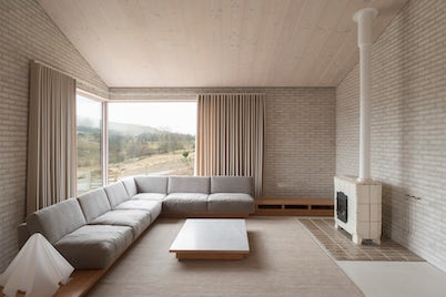 Interior Lounge Area with Sofa and Coffee Table